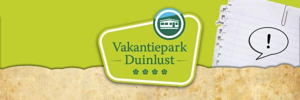 Parkreglement in omgeving Vakantiepark Duinlust