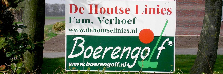 "Boerengolfbaan ""De Houtse Linies"" in omgeving Den Hout, Noord Brabant"