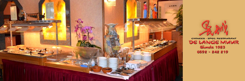 Chinees-Indisch restaurant De Lange Muur in omgeving Rolde,